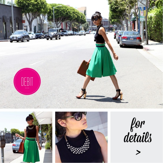 green asos texture skirt