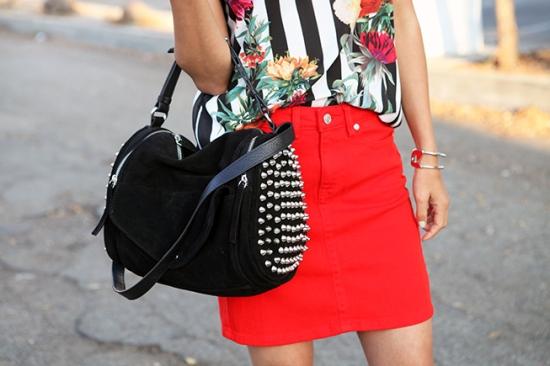 Zara studded suede barrel bag