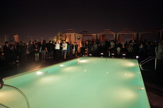anthony franco thompson rooftop pool runway show