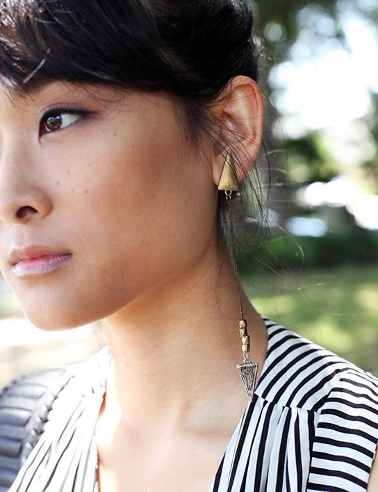 Forever21 long arrowhead earring