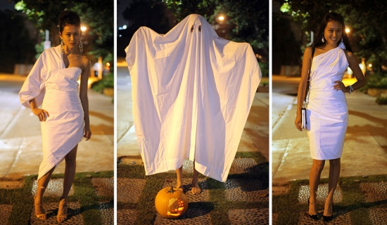 halloween how to wear a sheet homepg