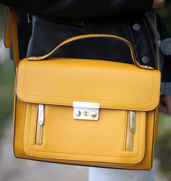 Phillip Lim for Target top handle crossbody yellow