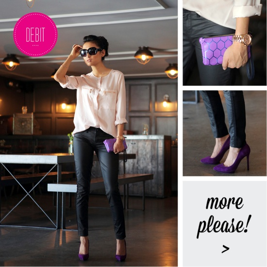 AOS colorblock moto coated jeans Dolce Vita pumps Mossimo top