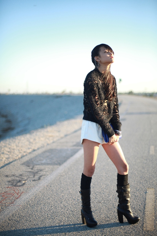 catching couture michelle forstadt blue sparrow vegan leather shorts miista madde boots
