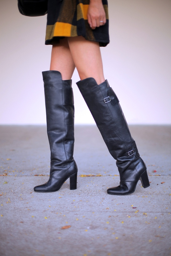 hm leather knee boots