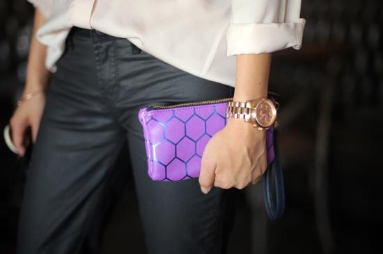 Target hexagon wristlet Michael Kors rose gold watch
