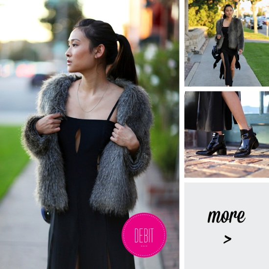 catching couture shakuhachi dress h&m faux fur coat