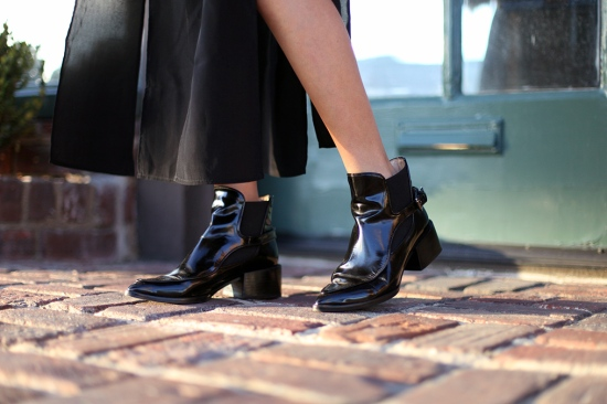catching couture zara black leather ankle boots with strap
