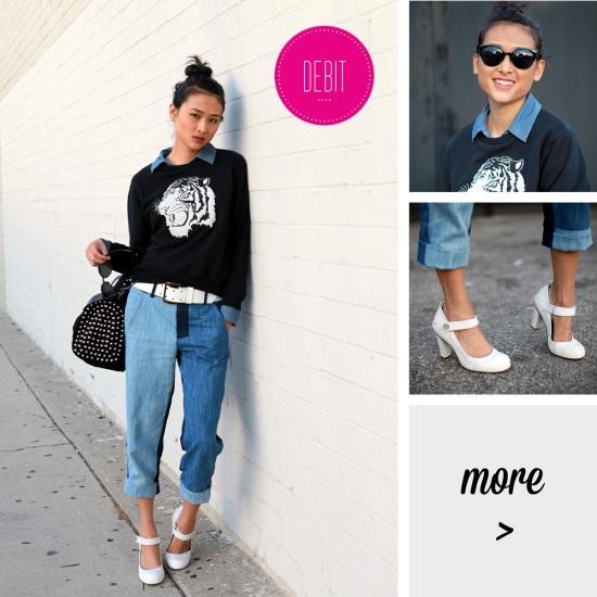 catching couture zara tiger sweatshirt zara combination patchwork jeans
