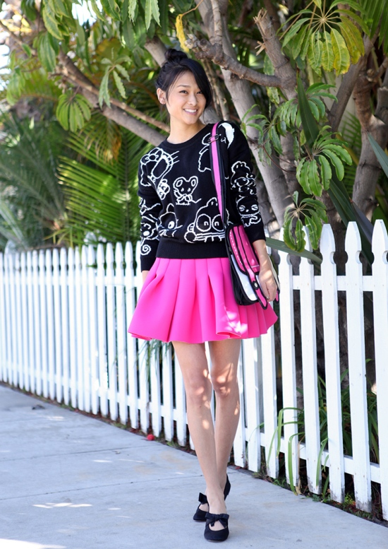 jump from paper flared scuba skirt sanrio hello kitty forever 21 sweater silvia jump from paper flared scuba skirt sanrio forever 21 sweater silvia tcherassi ballet flats