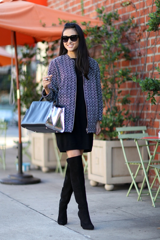 catching couture topshop cross stitch bomber jacket nine west criss cross over the knee boots z spoke by zac posen earth east west satchel