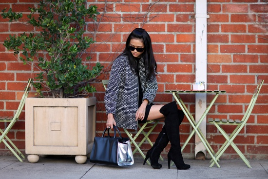 catching couture z spoke by zac posen earth east west satchel nine west criss cross black suede over the knee boots