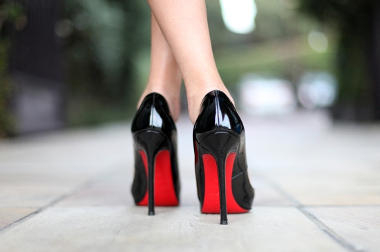 christian louboutin pigalle 120mm patent leather pumps