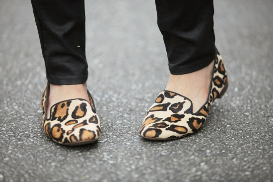 sam edelman alvin leopard smoking loafer flats