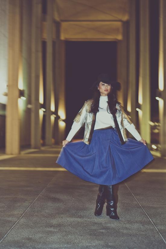 taylor kent phillip lim pleated skirt