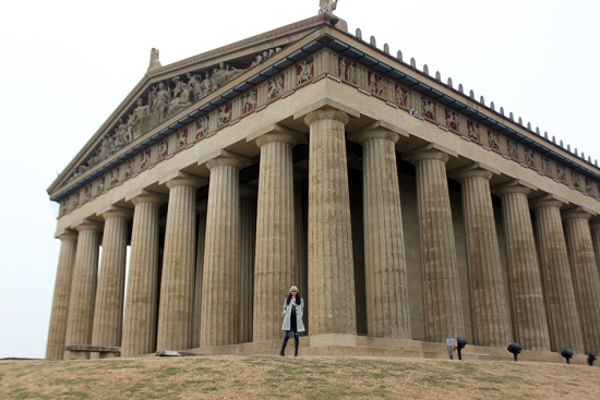 the parthenon at centennial park nashville tennessee