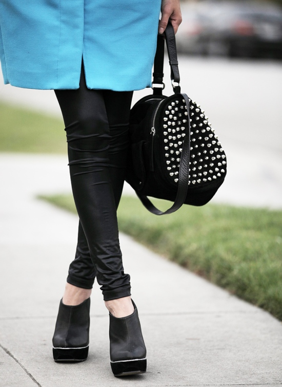 zara studded barrel bag
