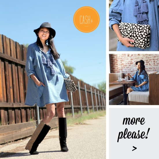 hm denim tunic with tassels