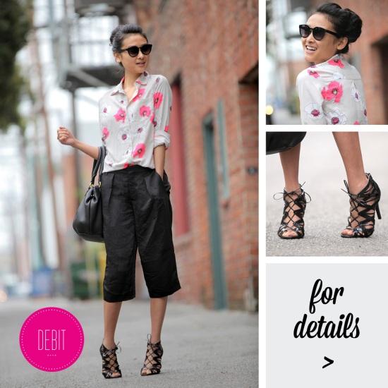 merona target floral blouse zara shorts