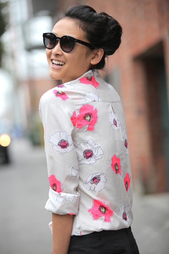 target merona womens favorite blouse floral print