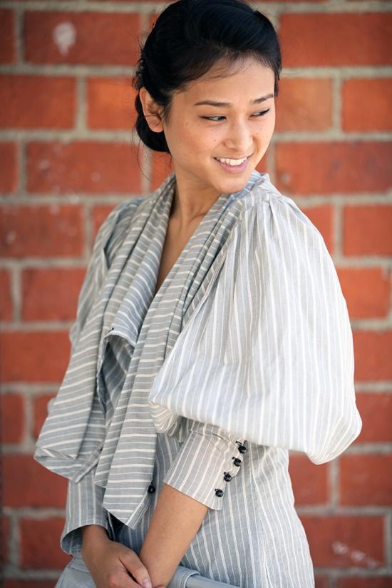 catching couture rachel roy cowl neck blouse