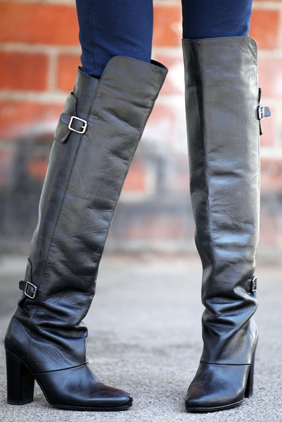 hm paris collection fall 2013 over the knee boots