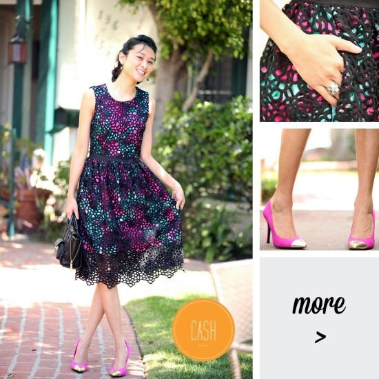 wolven lace terrace sheath dress