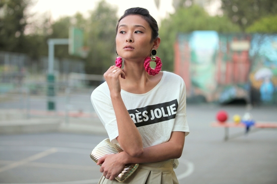 hm viscose tshirt meredith wendell ropey earrings