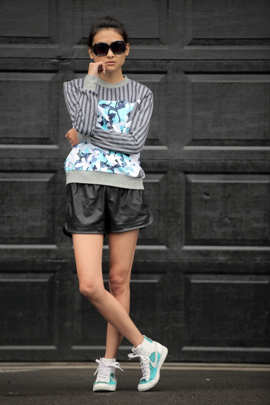 peter pilotto for target sweatshirt forever 21 faux leather shorts