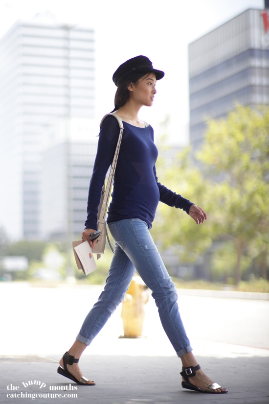 abs sweater hm distressed maternity jeans