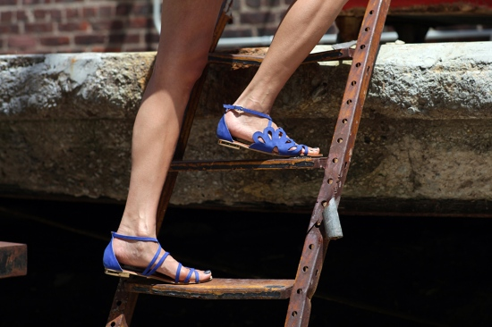 calcados masiero leather sandals nobuck blue nubuck sandals