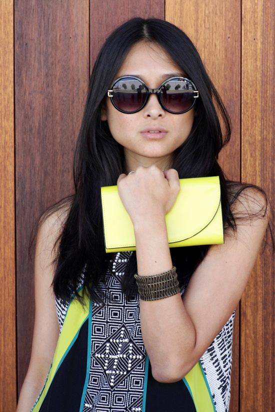 forever 21 f6221 round sunglasses saturday kate spade everything in its place wallet chartreuse