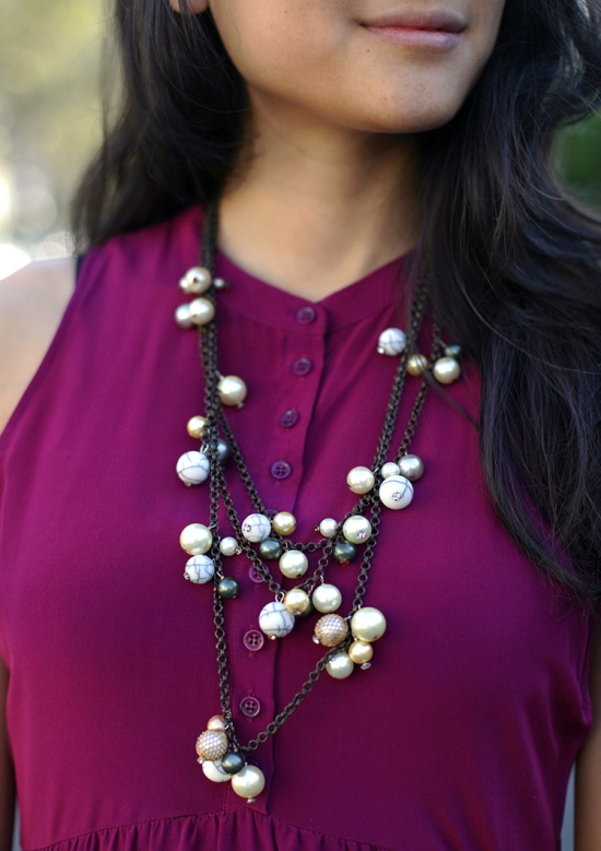 subversive for target pearl and marble layered necklace