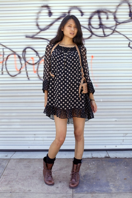 alice temperly for target polka dot dress long sleeve steve madden troopa boots