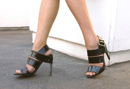 Jeffrey Campbell Trina Sandal black leather
