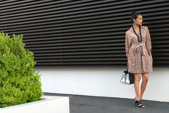 see by chloe leopard print silk dress