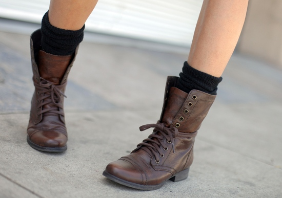 steve madden troopa leather boots brown