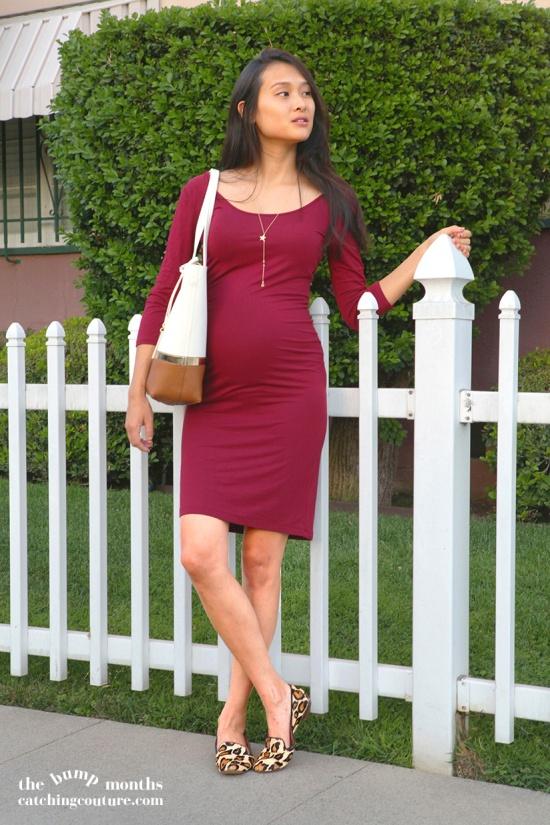 forever 21 knit midi dress sam edelman alvin leopard loafer flats maternity