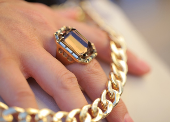 kelly wearstler rossmore gold topaz crystal baguette ring