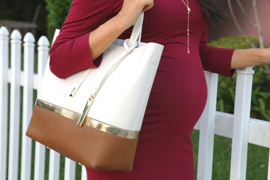 vince camuto leila colorblock tote gorjana super star lariat necklace maternity