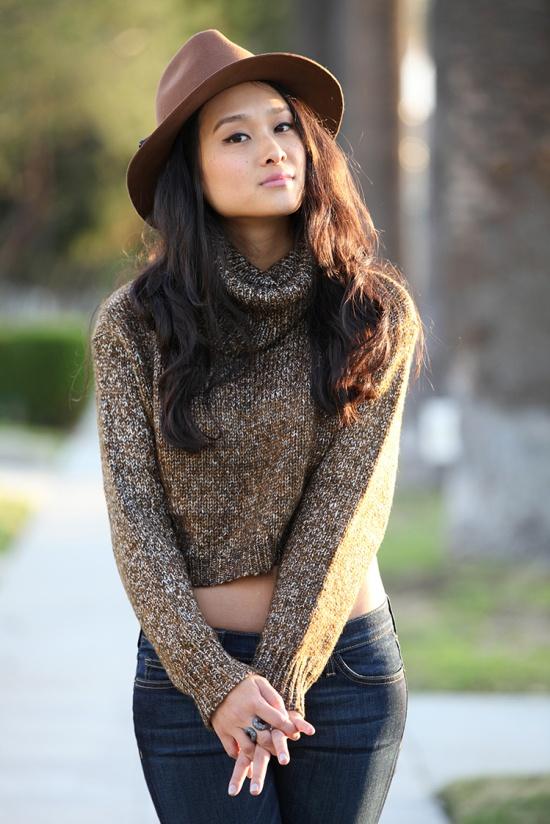 target merona brown wool fedora