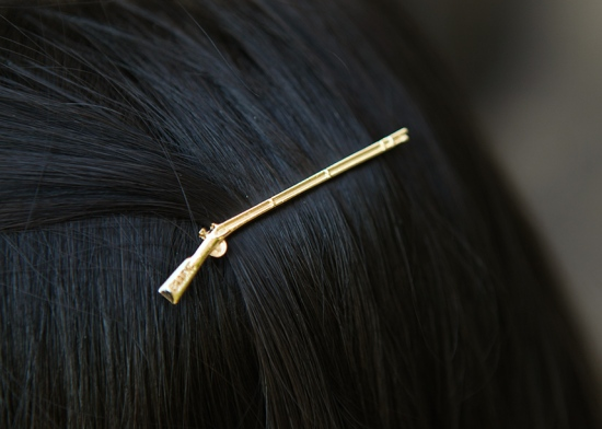 bluntla gun hair pins gold