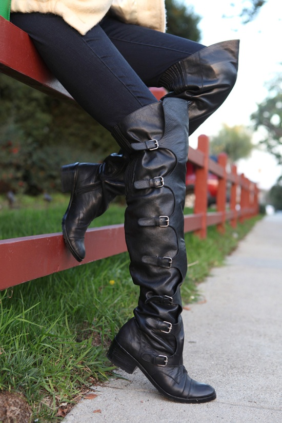 dolce vita eva over the knee buckle boots