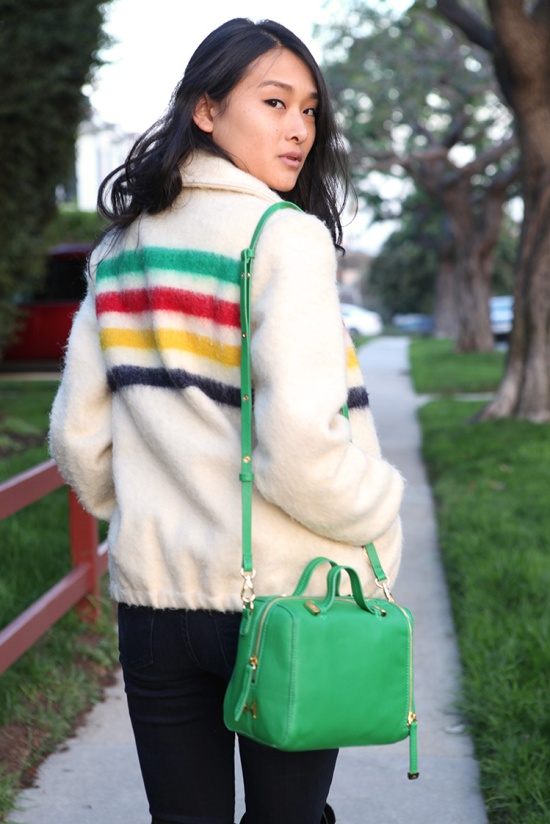 halston heritage green baby satchel hudsons bay company coat