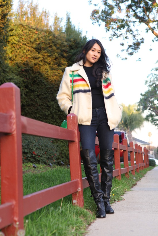 hudsons bay wool striped coat dolce vita otk boots