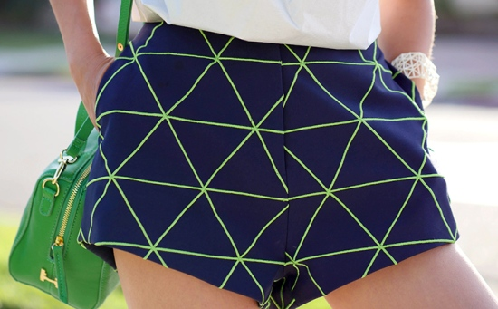 cameo from time shorts navy green