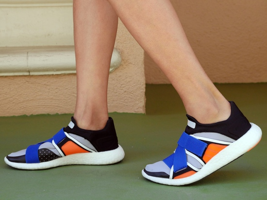 adidas by stella mccartney pure boost shoes in eggshell