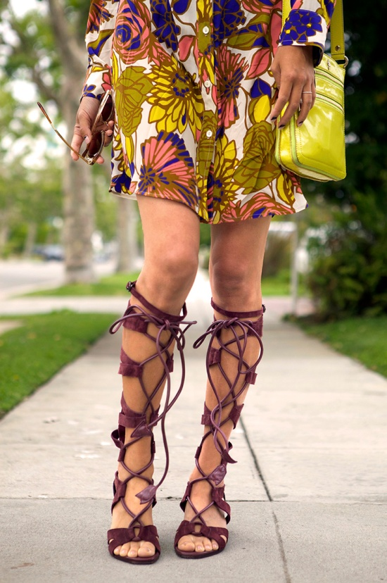 hm burgundy suede gladiator sandals