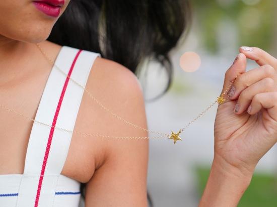 gorjana star lariat gold necklace