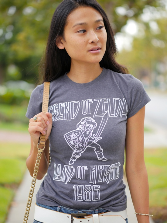 legend of zelda land of hyrule 1986 gamer tshirt